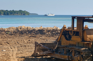 Development at Port Vila's seafront.