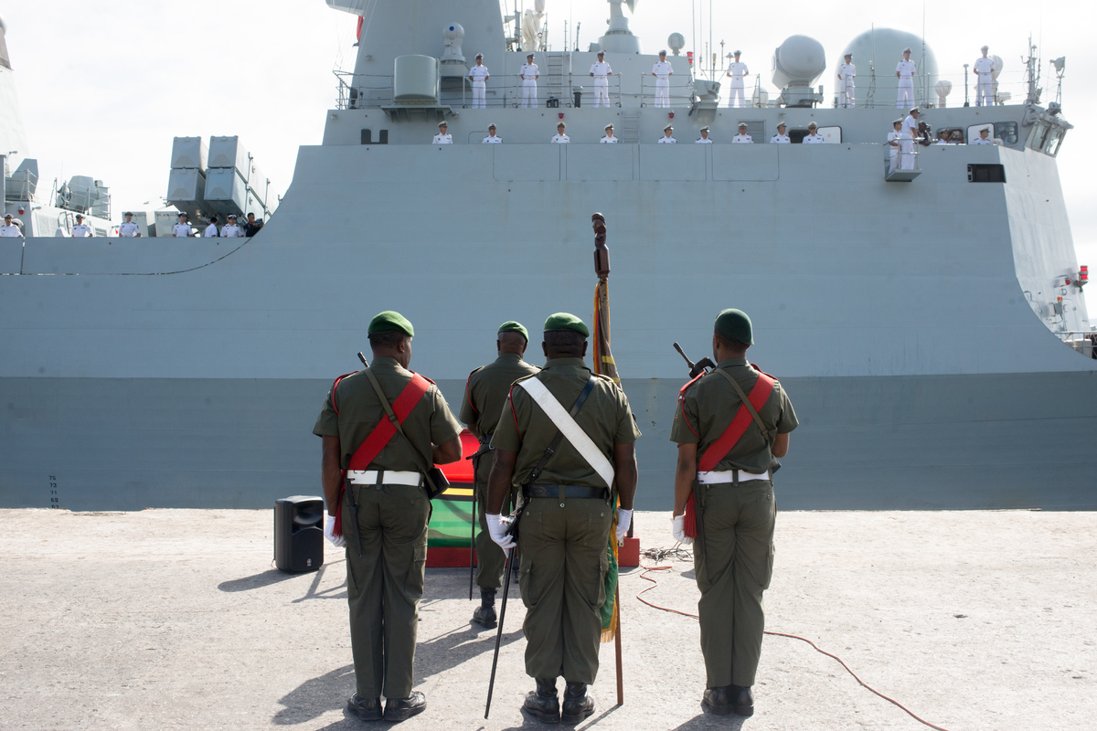 Three PLAN ships, two frigates and a supply ship, arrived in Port Vila on a 4 day friendly visit. This is the largest Chinese naval contingent to visit Vanuatu.