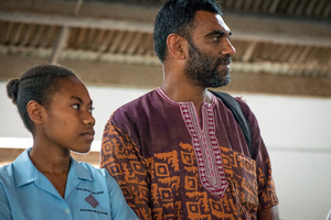 Executive Director of Greenpeace International Kumi Naidoo took some personal time to deliver his climate change message to youth in Vanuatu.