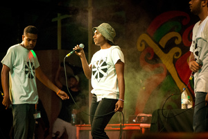 Scene-stealers Confliction staked their claim at the forefront of new music in Vanuatu when they blew the doors out in a madly energetic performance on the second day of Fest Napuan 2016.
