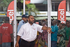 Digicel launch day.