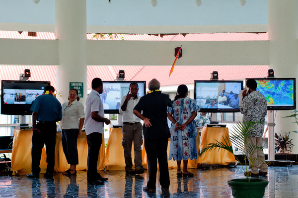 Some shots from the official opening of the Vanuatu eGovernment network.