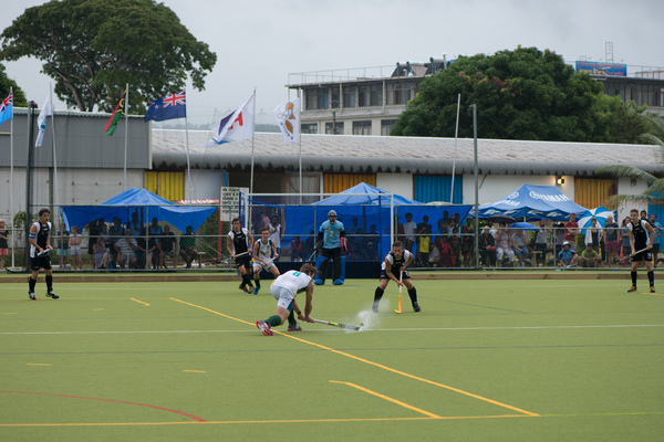 Shots from a couple of games in a junior field hockey tournament held in Port Vila.