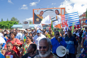 A throng of people marched through downtown Port Vila on Chief's Day to express their support for a free West Papua. West Papuan independence is a touchy subject for Indonesia's allies. Vanuatu is one of the few nations where independence activitists are safe and supported.