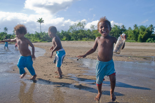 The children tend to get a little rambunctious as soon as they arrive at the beach. Just a little, though