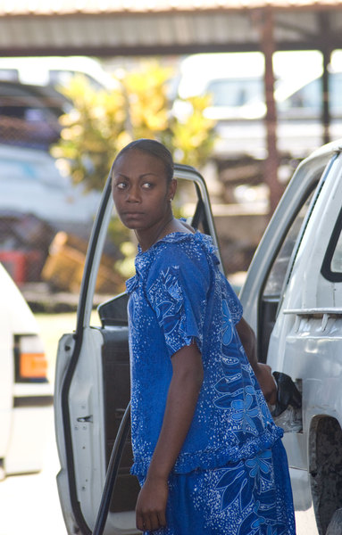 Something I haven't seen in other countries: Virtually every single gas station attendant in Vanuatu is a young woman. They wear island dresses as a uniform of sorts - I suppose to maintain a modest public face in front of the often brusque, sexist drivers.