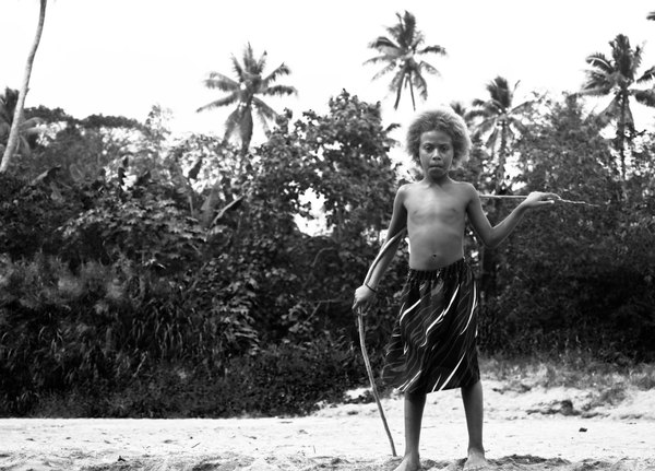 A young girl at Blacksand beach.