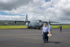 Australian governor general Peter Cosgrove's visit to Tanna underlines how much work remains to be done in the aftermath of cyclone Pam. High Commissioner Jeremy Bruer prepares to board an RAAF C130 bound for Tanna.