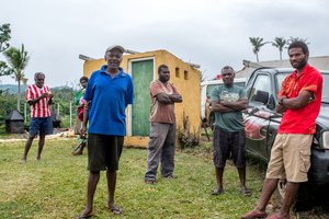 Australian governor general Peter Cosgrove's visit to Tanna underlines how much work remains to be done in the aftermath of cyclone Pam. Staff at Lenakel Hospital welcome the governor general.