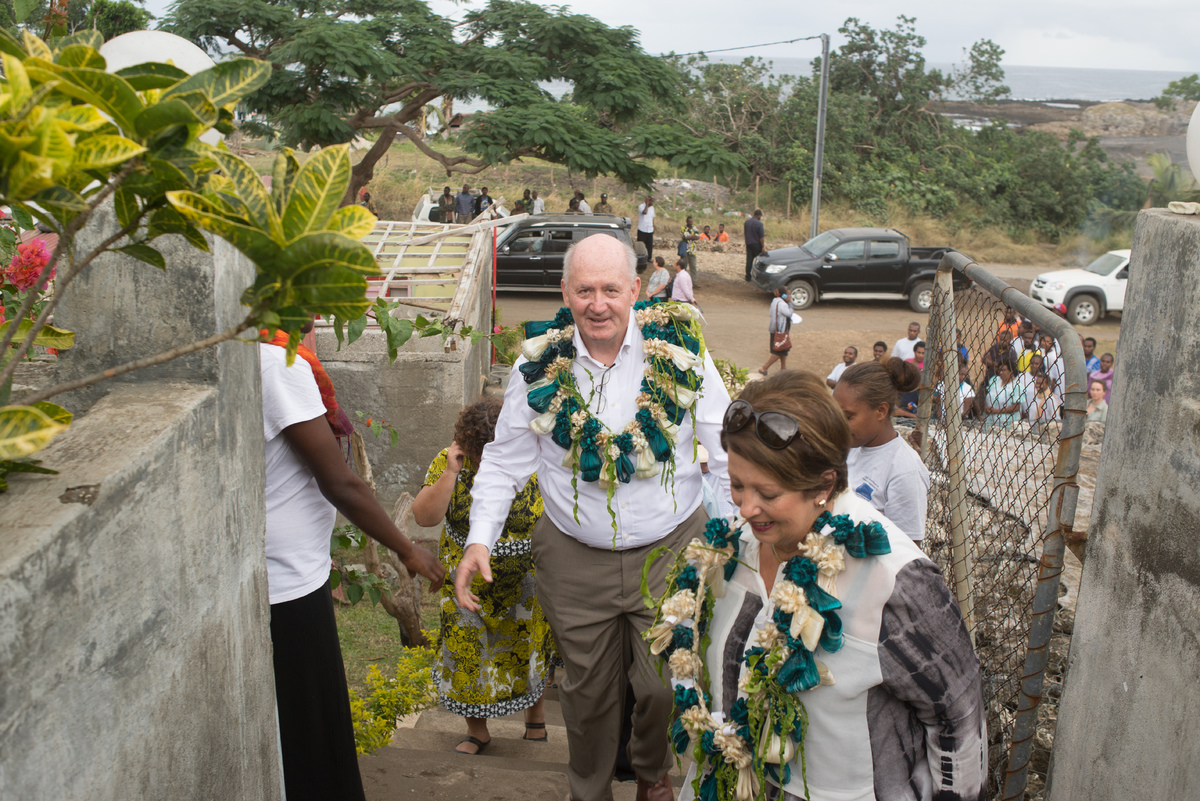 Australian governor general Peter Cosgrove's visit to Tanna underlines how much work remains to be done in the aftermath of cyclone Pam. The governor general visits CARE headquarters in Tanna.