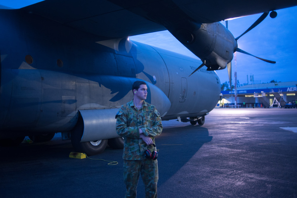Australian governor general Peter Cosgrove's visit to Tanna underlines how much work remains to be done in the aftermath of cyclone Pam. The return flight from Tanna on an RAAF c130.