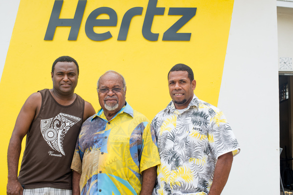 The guys at Hertz were pretty thrilled to meet the Grand Chief.