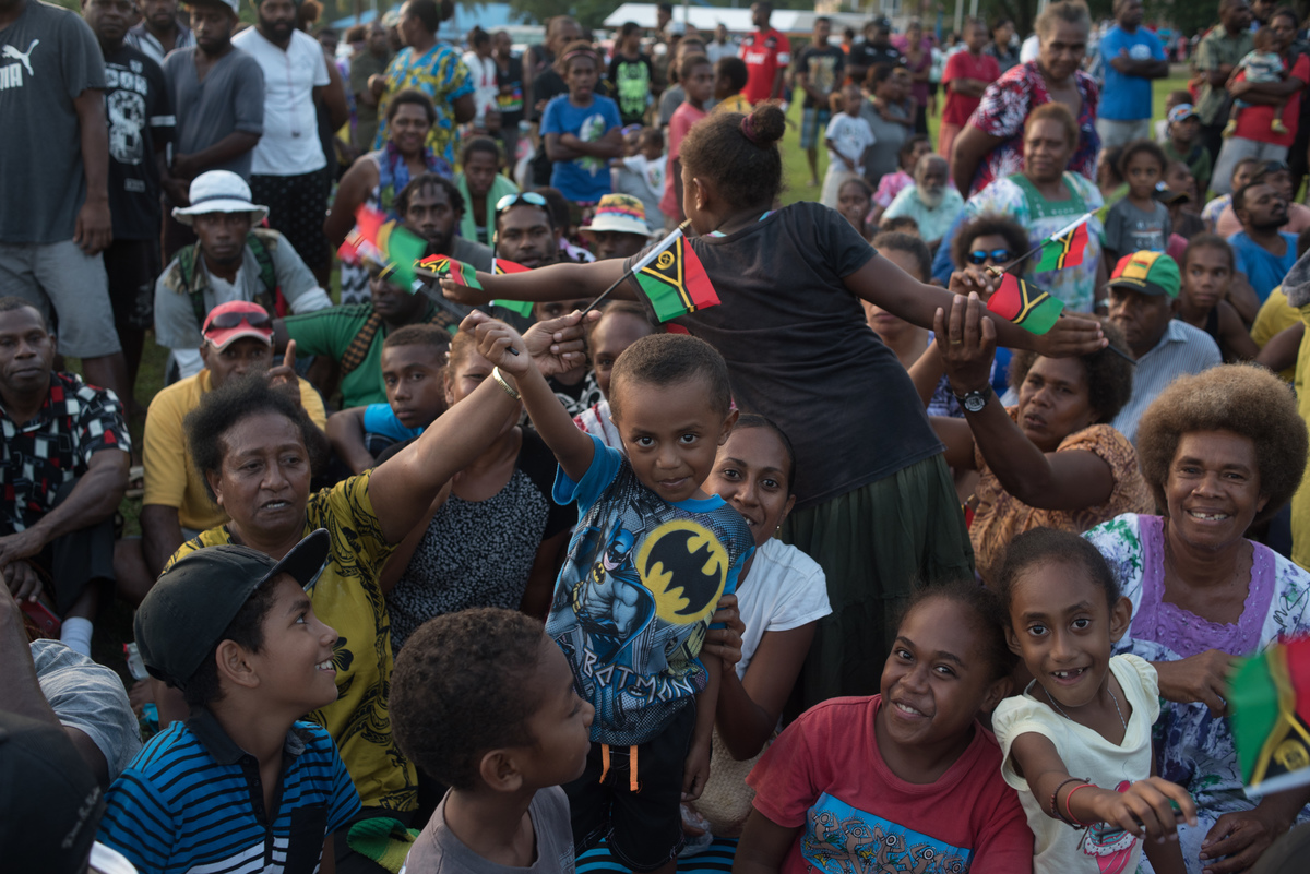 Members of the Under-20 World Cup Footbal squad returned to Vanuatu to absolute pandemonium as supporters erupted in an outpouring of joy.