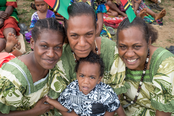 One of Vanuatu's favourite traditions - matching island dresses.