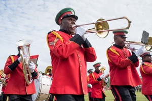 Members of the VMF band. Their musical performance is a perennial favourite.