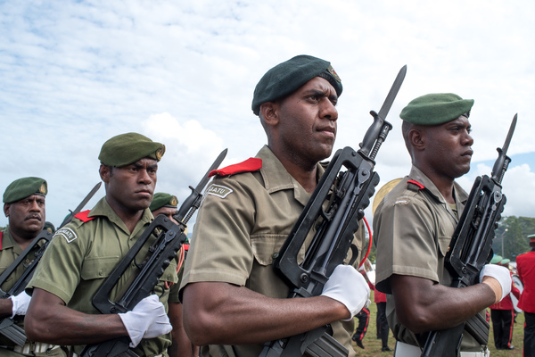Members of the Vanuatu Mobile Force.
