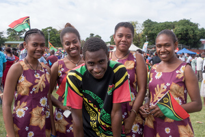 More matching outfits. It's kind of a thing on Independence Days here in Vanuatu.