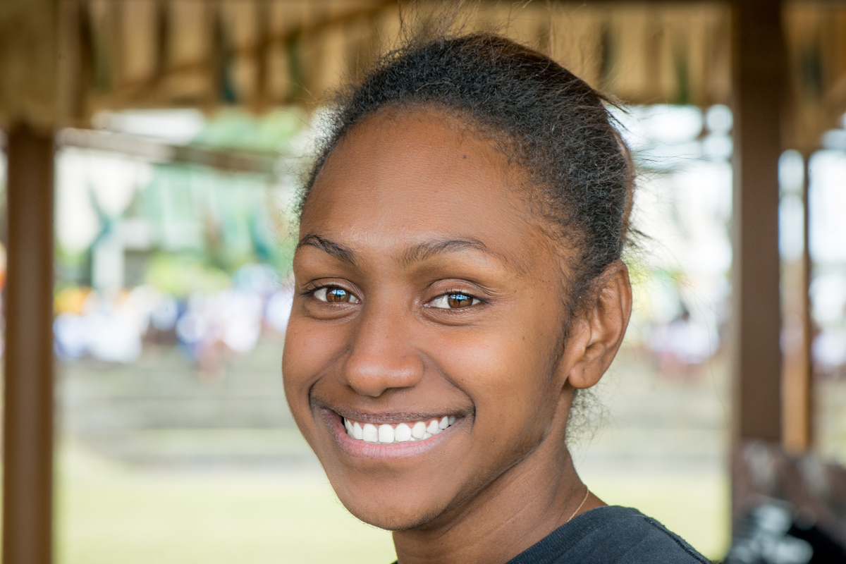 Jayleen became a minor celebrity when her interview amid the ruins of cyclone Pam with Alice Clements of UNICEF was replayed on news programmes around the world. She's happily enrolled at university now, and her mother has a new market stall in which to sell her wares. Life is still challenging, but the immediate effects of Pam are receding with every passing day.