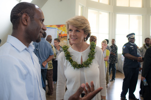 More shots from Australian foreign minister Julie Bishop's 2013 visit to Port Vila.