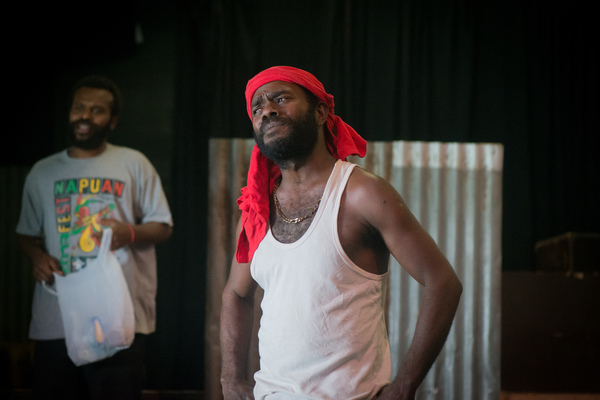 I was invited down to Wan Smolbag Theatre to take some photos of a run-through of their new play, Kaekae Rat. It's brilliant.