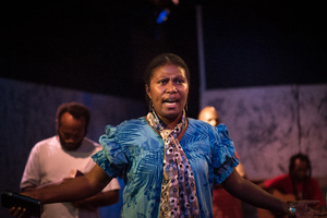 Shots from Wan Smolbag's production of Kalabus.