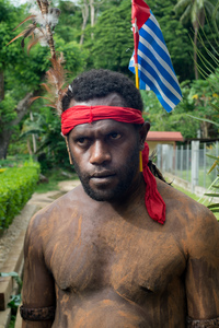Kastom ceremony at the Melanesian Spearhead Group's HQ to mark the submission of the West Papuan membership bid.