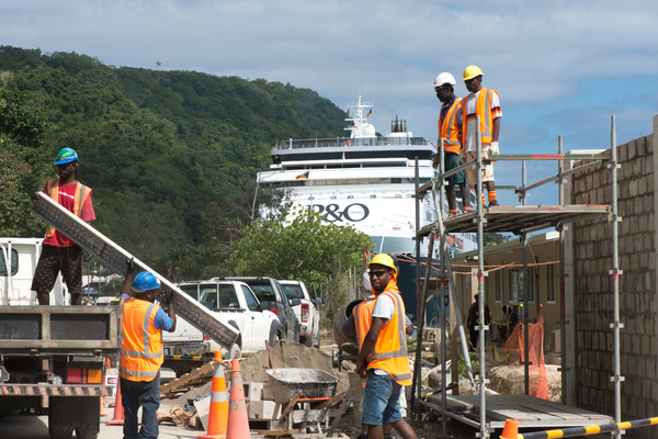 Commercial activity is on the increase as the Lapetasi wharf project moves closer to completion.