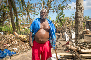 Life goes on in Blacksand after the devastating impact of cyclone Pam.