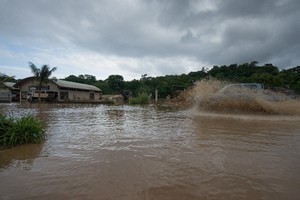 Every time we get a day or two of rain, this happens down in Manples, on one of the busiest roads in Port Vila.