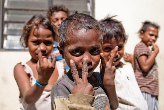 Timorese Children at an IDP Camp