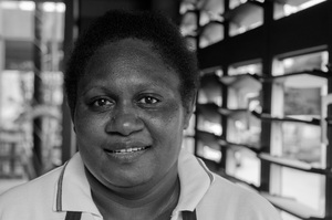 This woman makes the best coffee in Port Vila.