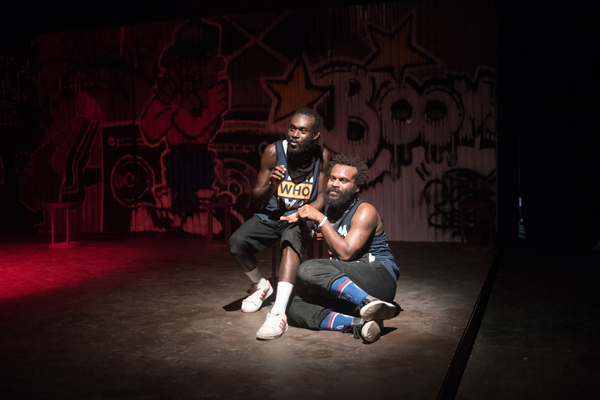 Shots from Wan Smolbag Theatre's dance/music/theatre production of Olsem Dadi, a hard-hitting examination of what it is to be a man.