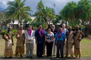 Shots take  during the opening ceremony for the PacINET 2010 IT conference in Port Vila, Vanuatu.