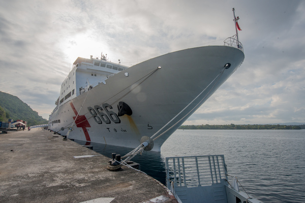 Shots from a visit to Vanuatu by a Chinese hospital ship.