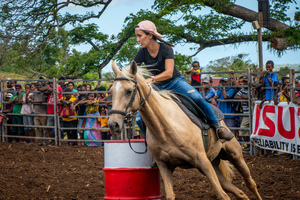 Port Vila residents gathered to watch a bit of the Wild West on Saturday in what everyone hopes is the first annual Port Vila Rodeo.
