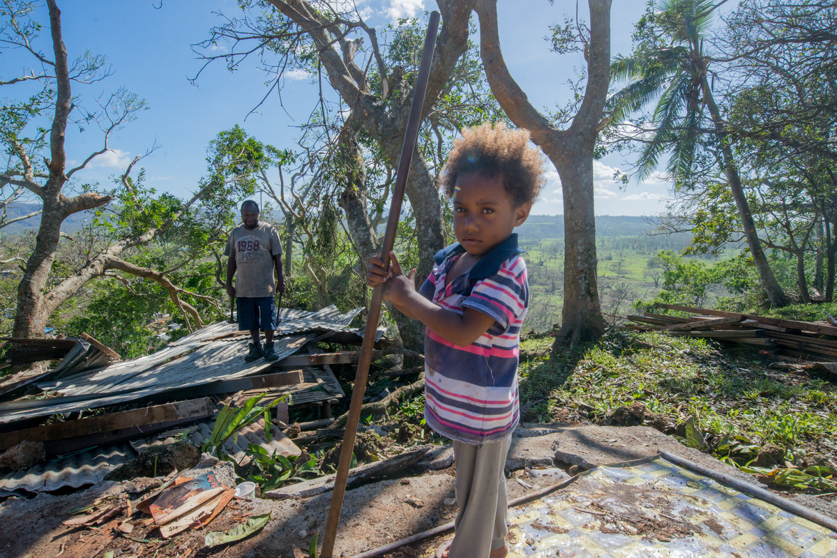 Rachel is a three year old girl whose life was altered by cyclone Pam.