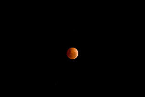 Lunar eclipse, just past the peak.