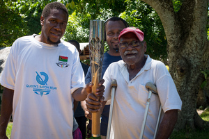 Shots from a trip round the island following the Queen's Baton relay.