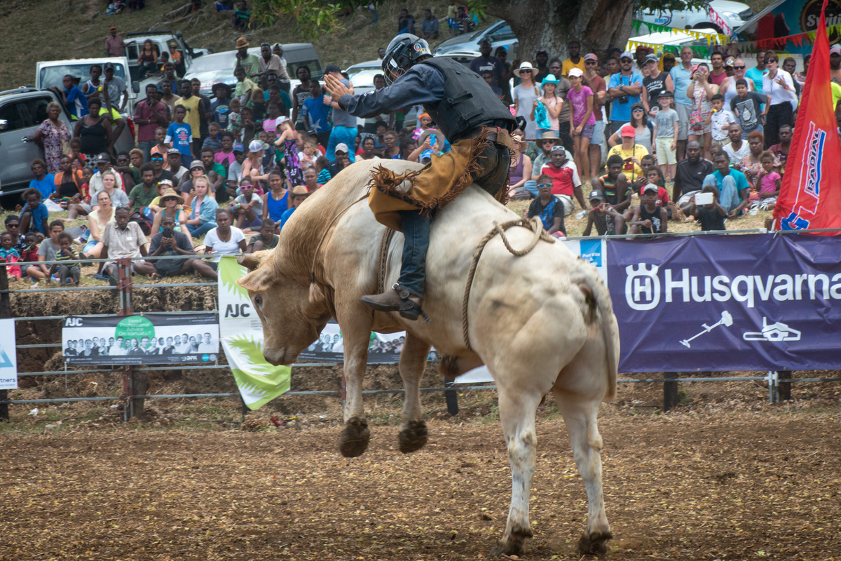 Fun and excitement on the second day of the 2017 edition of the Port Vila Rodeo.