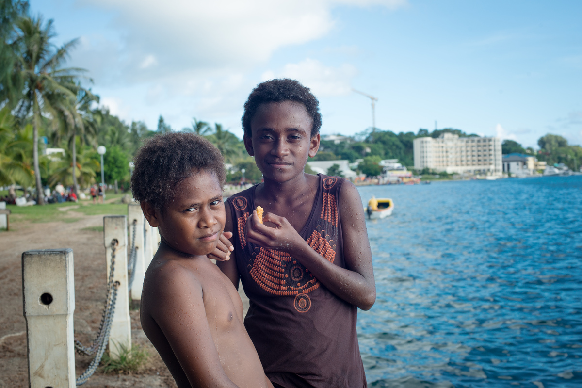 Some shots from the Seafront area of Port Vila, as well as a few in the market house.
