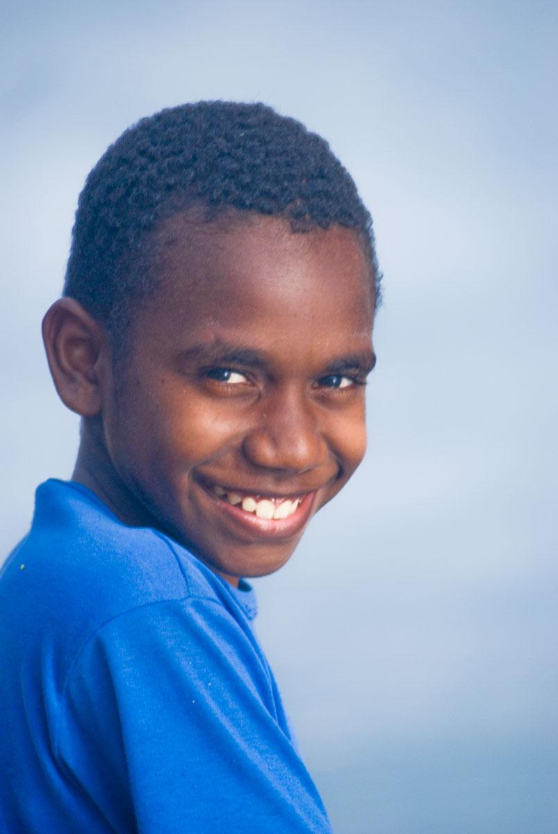 This young lad was swimming at the Port Vila Seafront when I took his photo.