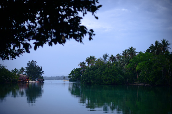 Landscape from the shore at Hannington's nakamal in Port Vila.
