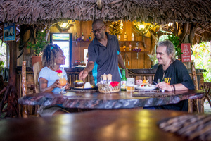 Shots for the Vanuatu Secret garden resort, a must-see new attraction in Port Vila.