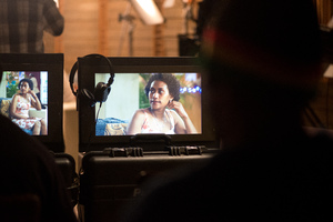 Shots from the second night shoot of Love Patrol.