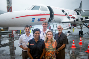 Smiles all round as the South Pacific Air Ambulance/ProMedical team announce the new service.
