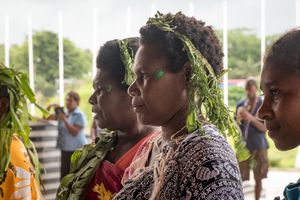Members of the Tannese community danced at a live event at the National Conference Centre in Port Vila.