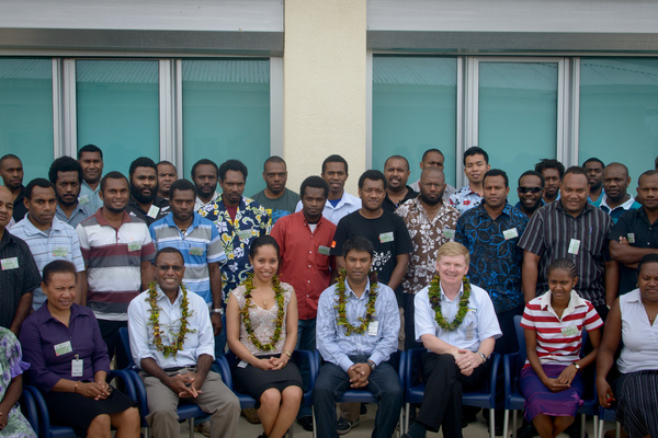 IPv6 Training event at the Reserve Bank in Port Vila.