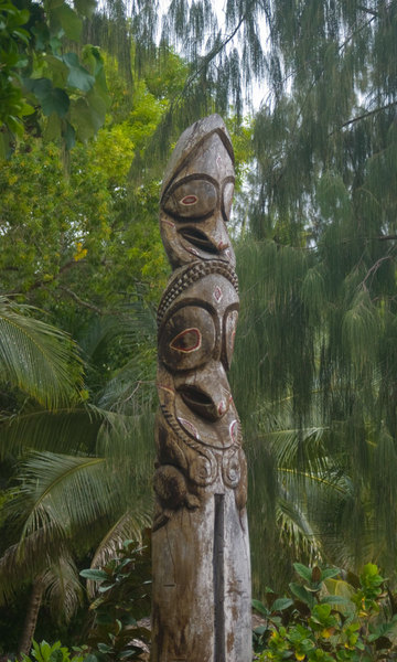 This tamtam is actually located on Erakor Island, a tourist resort in Port Vila. Amazing what a little cropping can do, though.