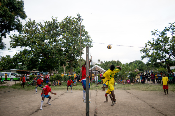 A few early shots from a friendly match in Mele village.