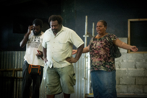 Some shots from a rehearsal of Wan Smolbag Theatre company's latest play.